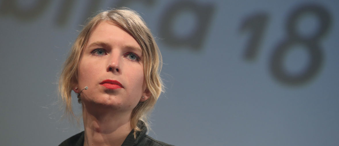 BERLIN, GERMANY - MAY 02: Whistle blower and activist Chelsea Manning, in what she said is her first strip outside of the United States since she was released from a U.S. prison, speaks at the annual re:publica conferences on their opening day on May 2, 2018 in Berlin, Germany. Re:publica 18 is holding a series of conferences themed with digital society on topics such as media, entertainment, politics, culture and technology from May 2-4. (Photo by Sean Gallup/Getty Images)