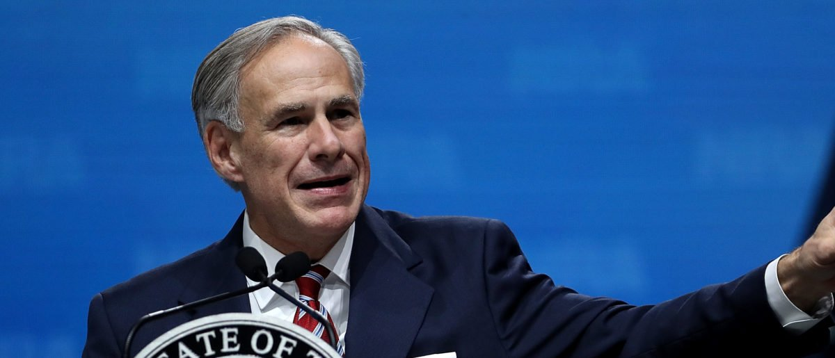DALLAS, TX - MAY 04: Texas Gov. Greg Abbott speaks at the NRA-ILA Leadership Forum during the NRA Annual Meeting & Exhibits at the Kay Bailey Hutchison Convention Center on May 4, 2018 in Dallas, Texas. The National Rifle Association's annual meeting and exhibit runs through Sunday. (Photo by Justin Sullivan/Getty Images)