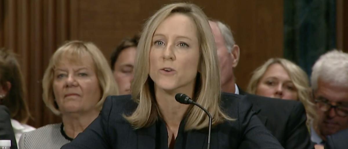Kathleen Kraninger at Banking Committee Hearing:Screen Shot:Youtube