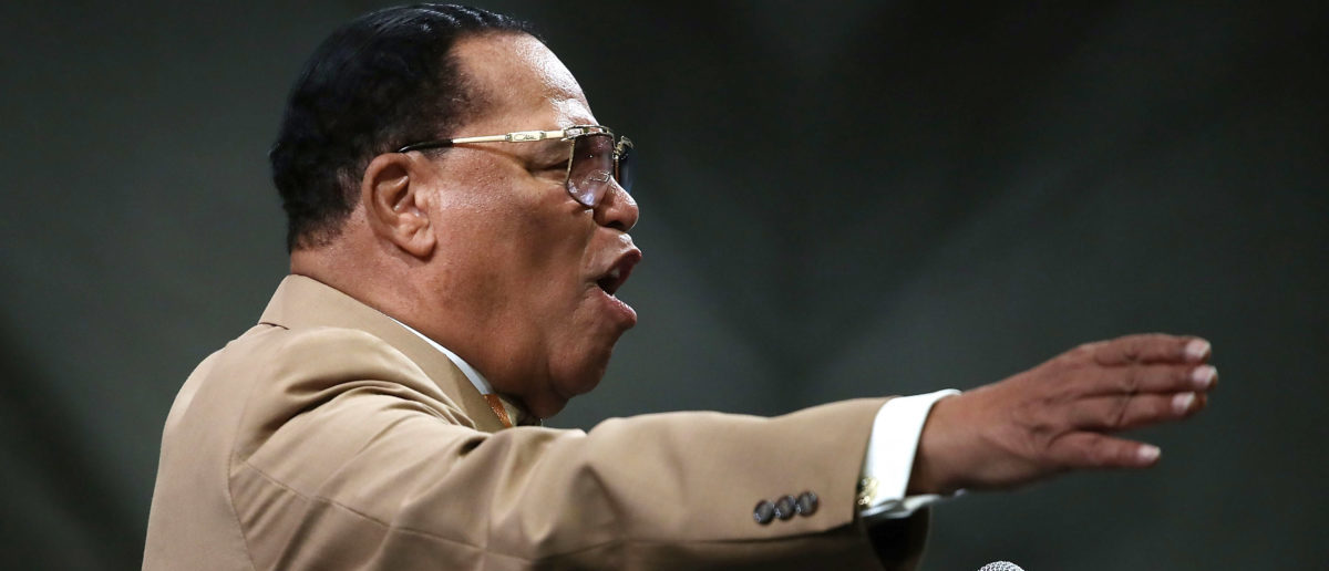 Nation of Islam Minister Louis Farrakhan frequently espouses anti-Semitic conspiracy theories on his Facebook page. (Photo by Mark Wilson/Getty Images)
