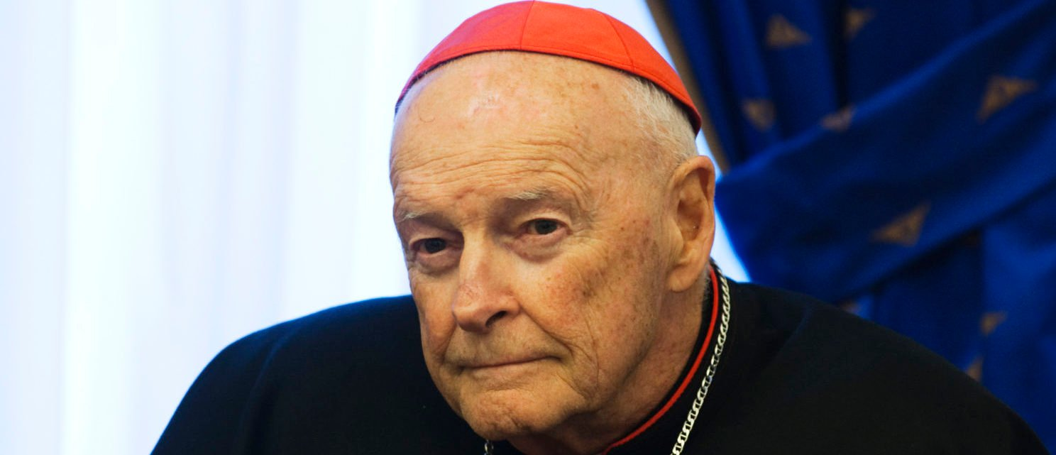 Roman Catholic Cardinal Emeritus Theodore McCarrick, part of a U.S. clerical delegation, looks on during a meeting with the Iranian President Mahmoud Ahmadinejad in Tehran on Sept. 17, 2011. REUTERS/Morteza Nikoubazl