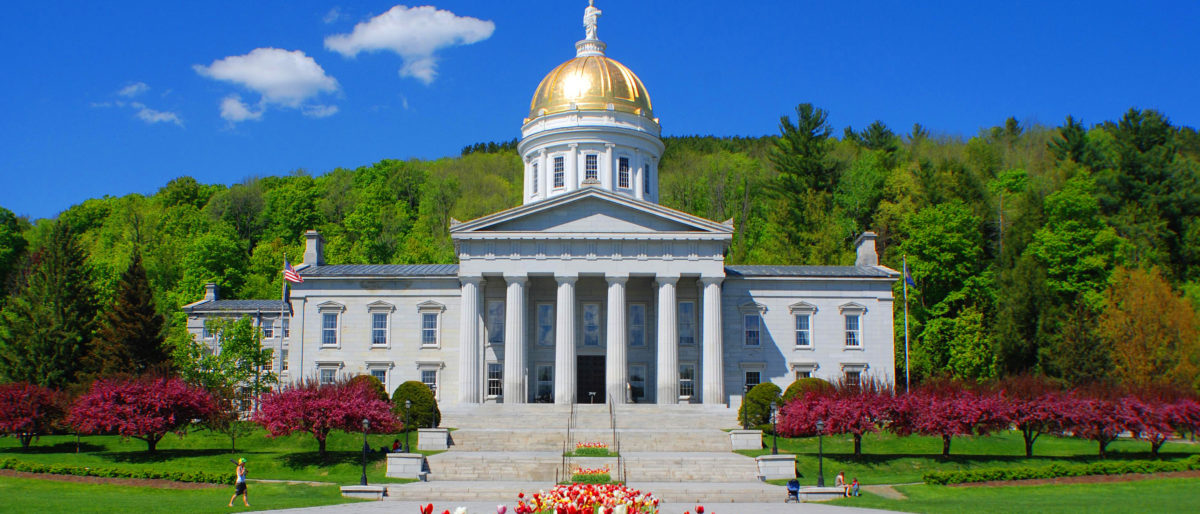 MONTPELIER VERMONT USA 04 28 2009: Vermont State House is the state capitol of the U.S. state of Vermont. It is the seat of the Vermont General Assembly. [Shutterstock/meunierd]