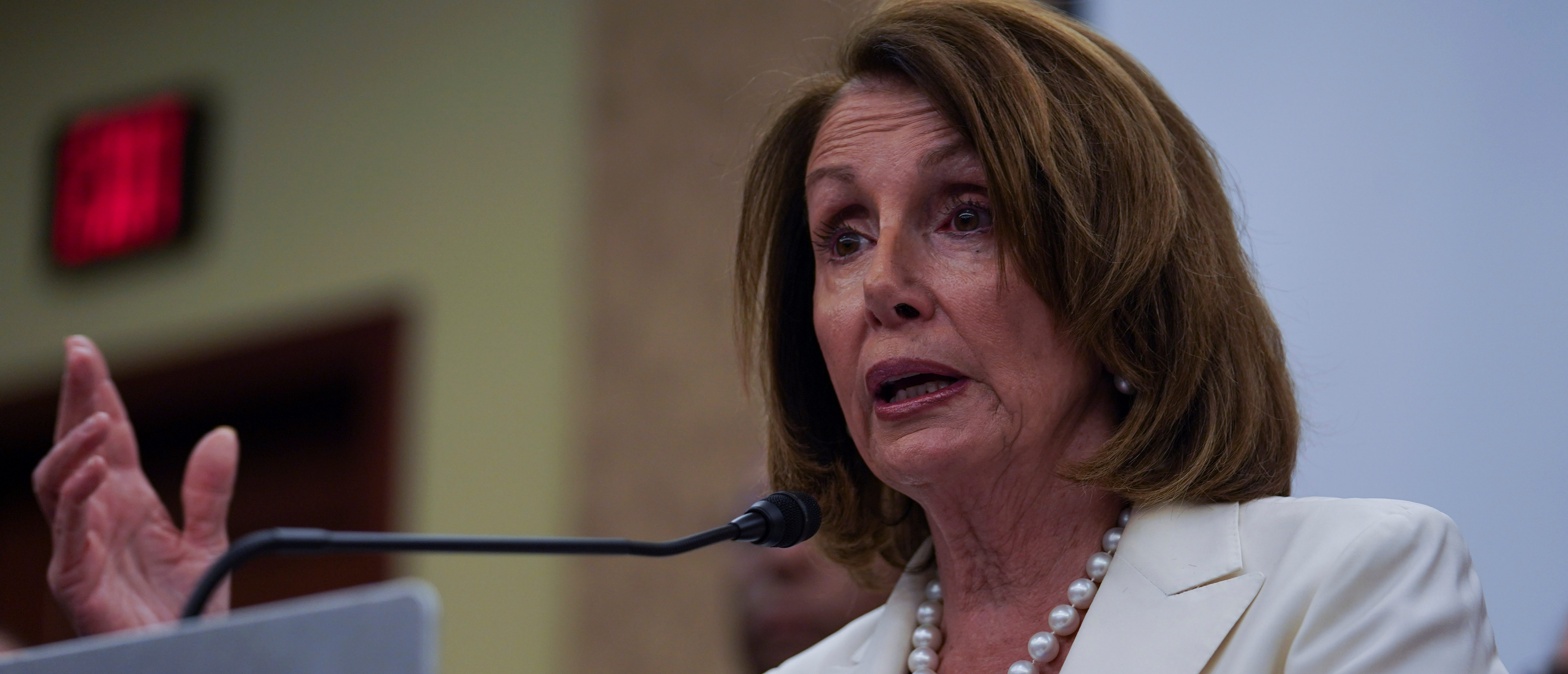 House Minority Leader Nancy Pelosi (D-CA) speaks during a press conference on the Trump Administration's tax cuts at the U.S. Capitol Visitors Center in Washington, on June 22, 2018. REUTERS/Toya Sarno Jordan
