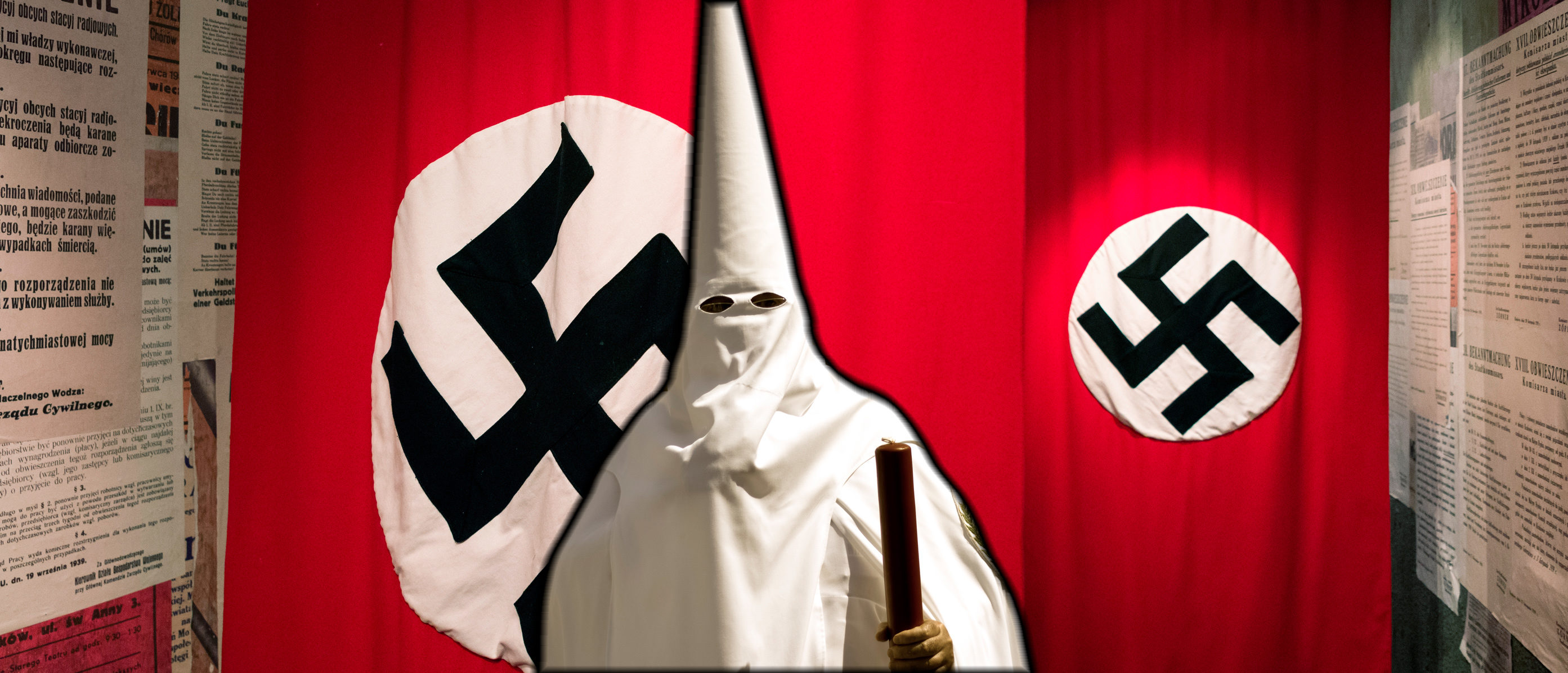 Amazon has ended the sale of any goods related to Nazis or the Ku Klux Klan such as swastikas and burning crosseson Thursday. Images: Shutterstock.com
