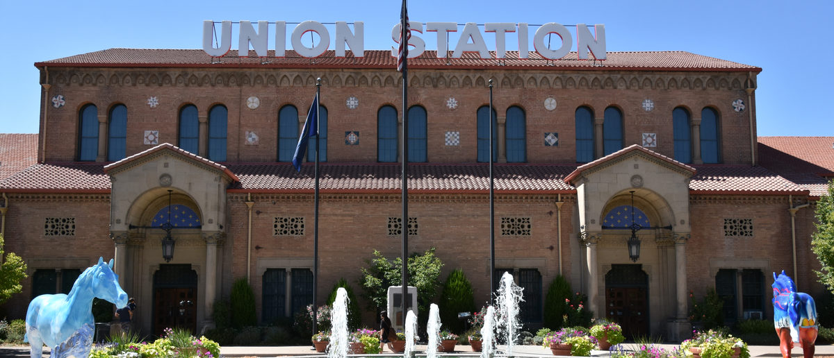 Union Station in Ogden, Utah, as seen on Aug 26, 2017. It was formerly the junction of the Union Pacific and Central Pacific Railroads. (Shutterstock/Ritu Manoj Jethani)