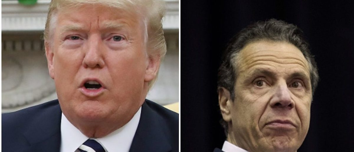 President Donald Trump New York Gov. Chris Cuomo Photo Collage: Photo by Mark Wilson/Getty Images/Photo by Drew Angerer/Getty Images