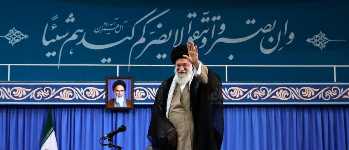 Iran's Supreme Leader Ayatollah Ali Khamenei is seen at the Hussayniyeh of Imam Khomeini in Tehran, Iran, August 13, 2018. Official Khamenei website