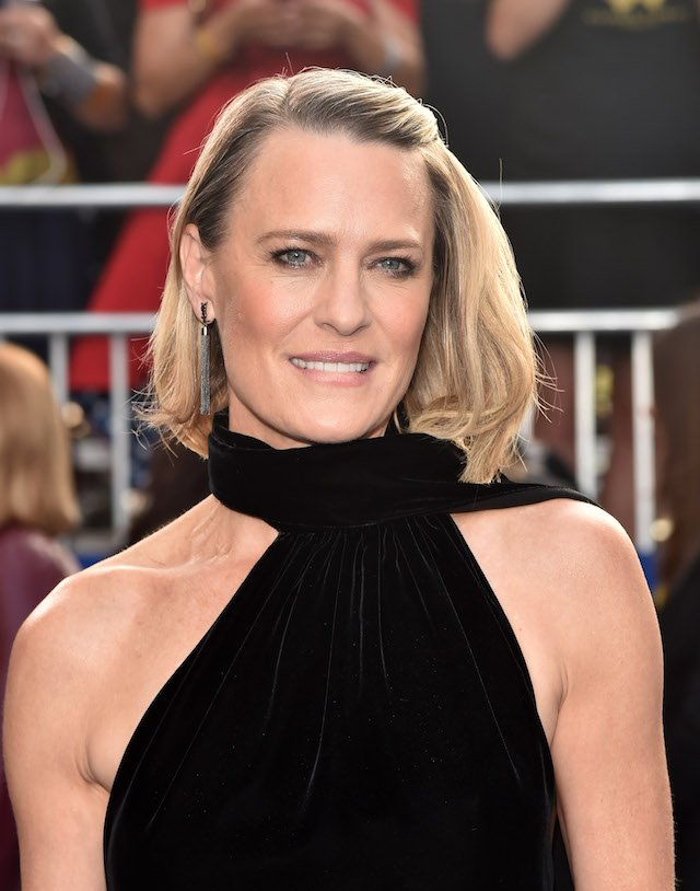 """Actress Robin Wright attends the premiere of Warner Bros. Pictures' """"Wonder Woman"""" at the Pantages Theatre on May 25, 2017 in Hollywood, California. (Photo by Alberto E. Rodriguez/Getty Images)"""