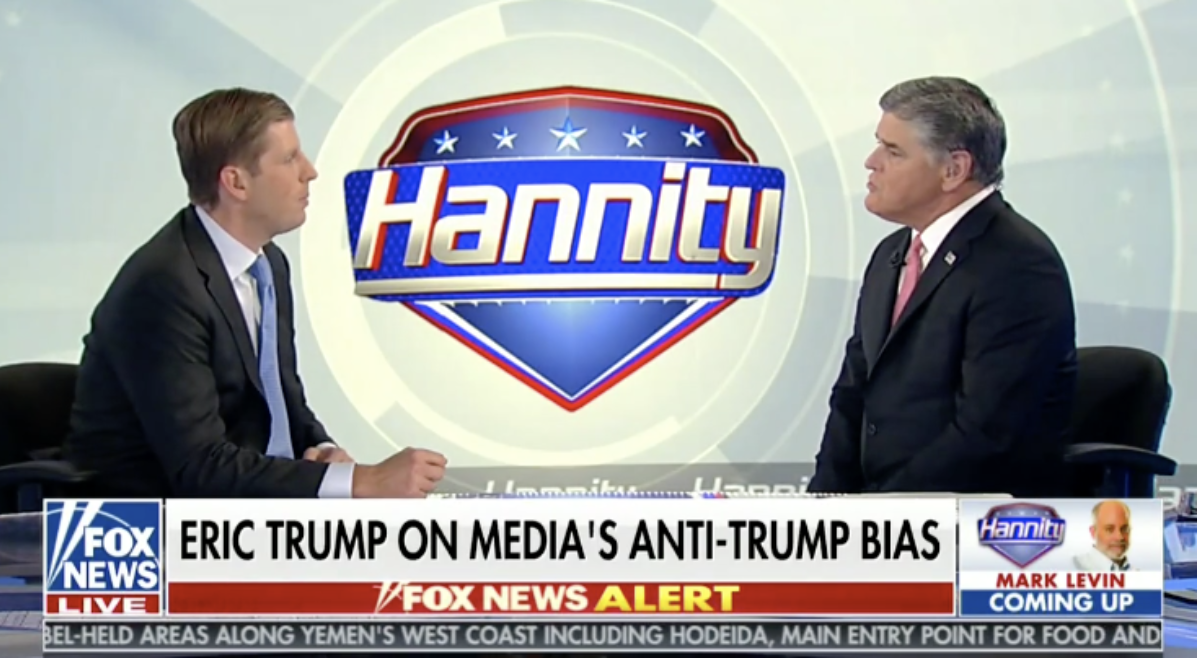 Eric Trump And Sean Hannity Hit Back At CNN's Jim Acosta: 'There's No Moral Outrage'