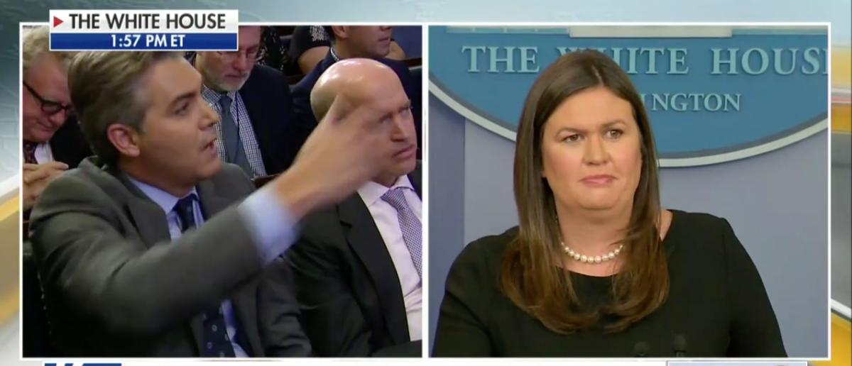 CNN's Acosta Asks Sarah Sanders To Denounce 'Enemy Of The People' Rhetoric