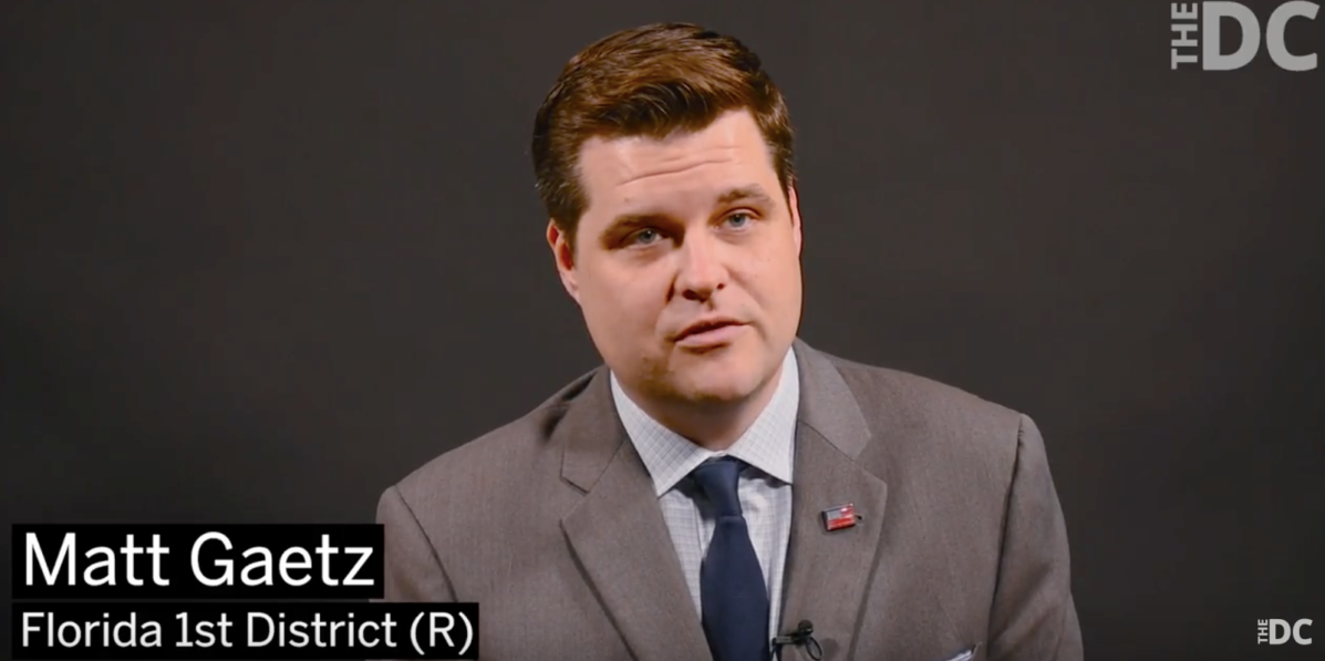 Matt Gaetz on twitter shadow banning (TheDC's YouTube screenshot)