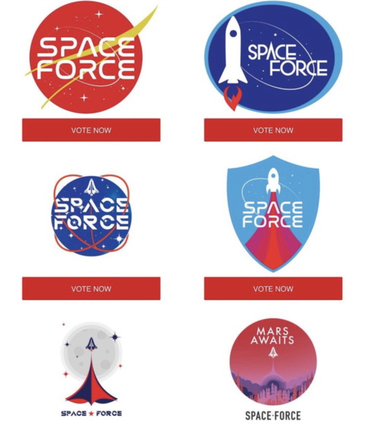 Trump Campaign Asks For Assistance In Deciding Space Force Logo