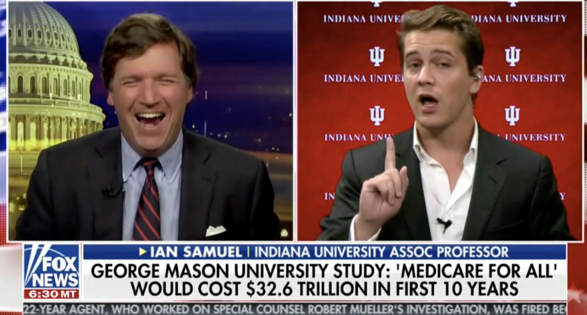 Tucker LAUGHS In Socialist Professor's Face Over Medicare For All