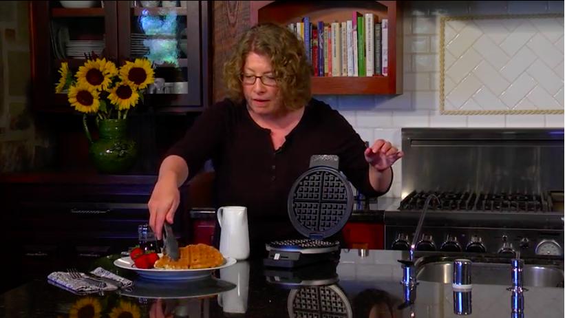 Cuisinart waffle maker (Amazon video screenshot)