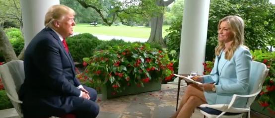 Ainsley Earnhardt Interviews President Trump (Fox News Screenshot: August 22, 2018)
