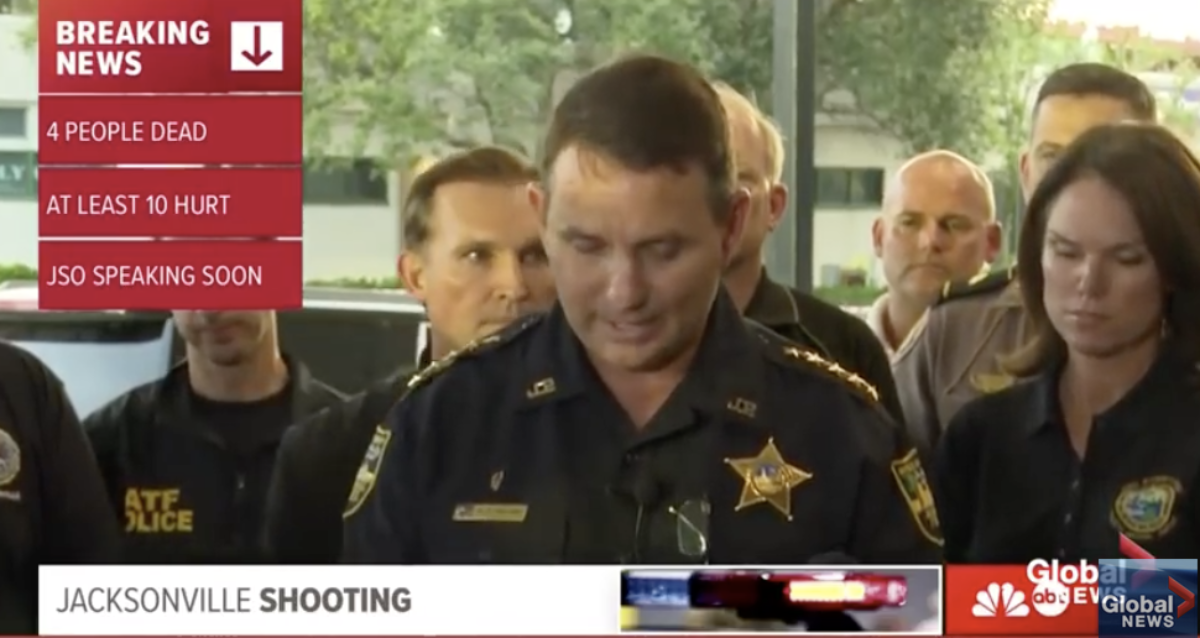 Jacksonville sheriff Mike Williams press conference (Twitter screenshot @LuisAntonioCC)