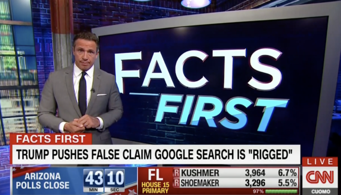CNN's Chris Cuomo Accuses Trump Of Using Google's Censorship To 'Divide'