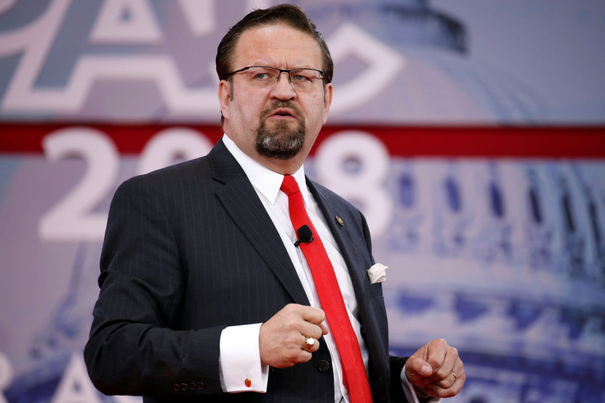 Former White House deputy assistant Sebastian Gorka speaks at the Conservative Political Action Conference (CPAC) at National Harbor, Maryland, February 24, 2018. REUTERS/Joshua Roberts