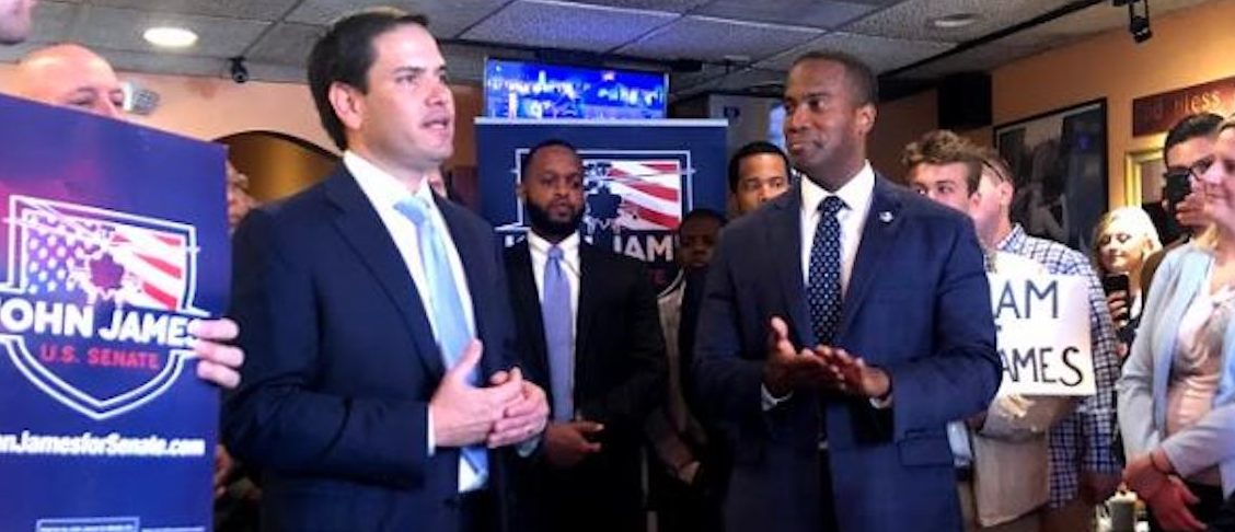 Marco Rubio Campaigns In Michigan With Combat Veteran John James