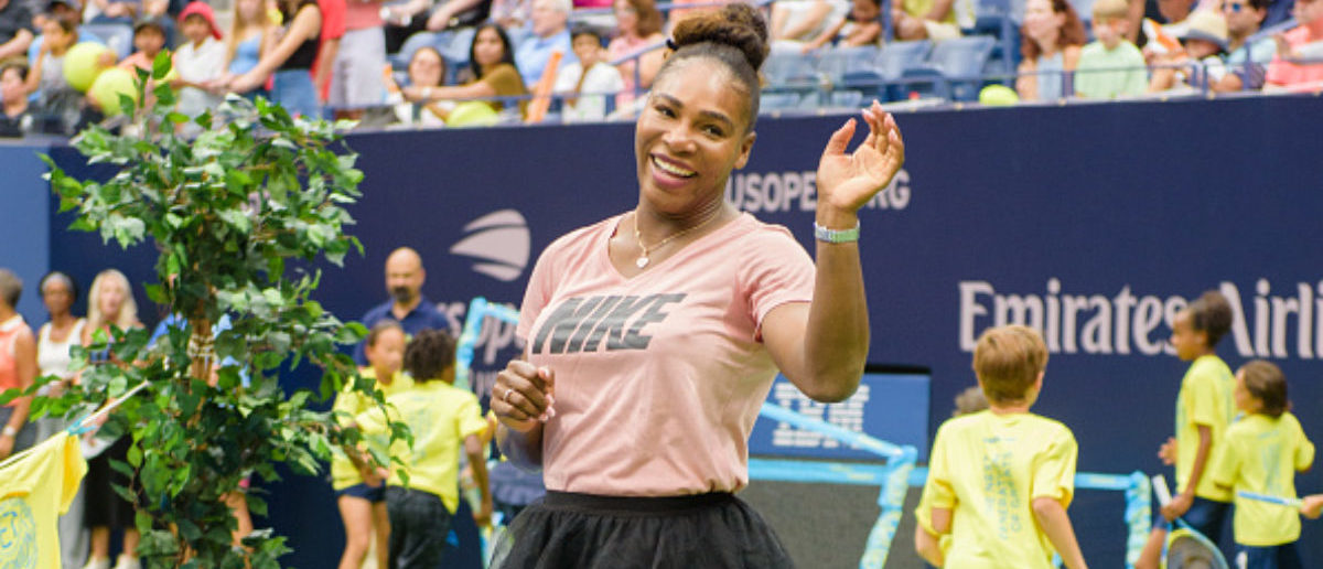 NEW YORK, NY - AUGUST 25: Serena Williams attends the 2018 Arthur Ashe Kids' Day at USTA Billie Jean King National Tennis Center on August 25, 2018 in New York City. (Photo by Noam Galai/Getty Images)