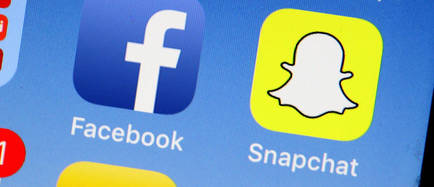 SAN ANSELMO, CA - MAY 02: The Snapchat app is displayed on the home screen of an iPhone on May 2, 2018 in San Anselmo, California. Stock prices for Snapchat dropped 20 percent before slightly rebounding after reporting first quarter earnings of $230.66 million on Tuesday that didn't meet analyst expectations of $243.6 million (Photo by Justin Sullivan/Getty Images)