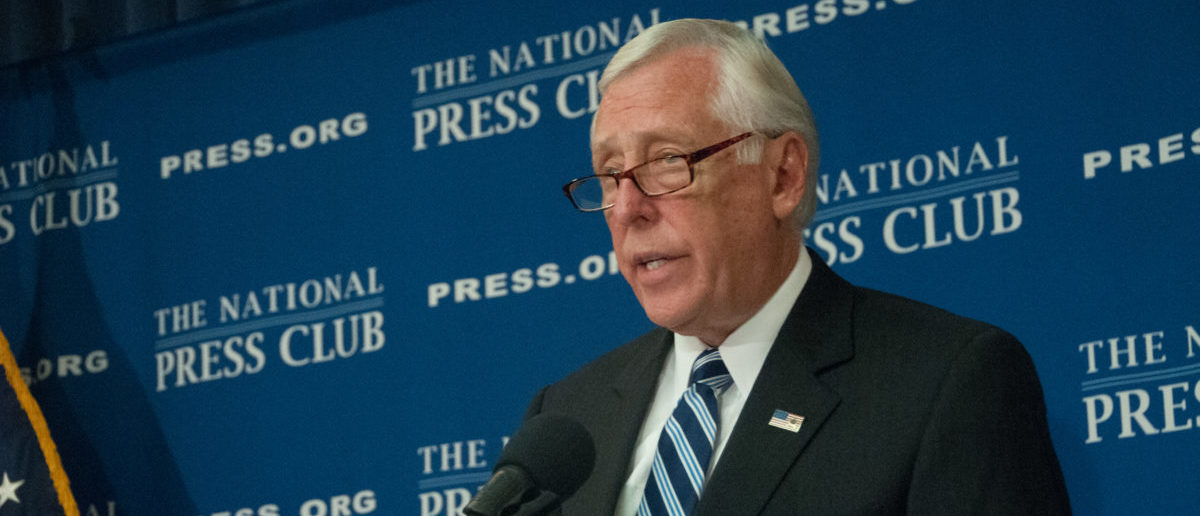 WASHINGTON, DC - SEPTEMBER 29, 2014 - Congressman Steny Hoyer, Democratic Whip in the U.S. House of Representatives, speaks at a press conference at the National Press Club. SHUTTERSTOCK/ Albert H. Teich