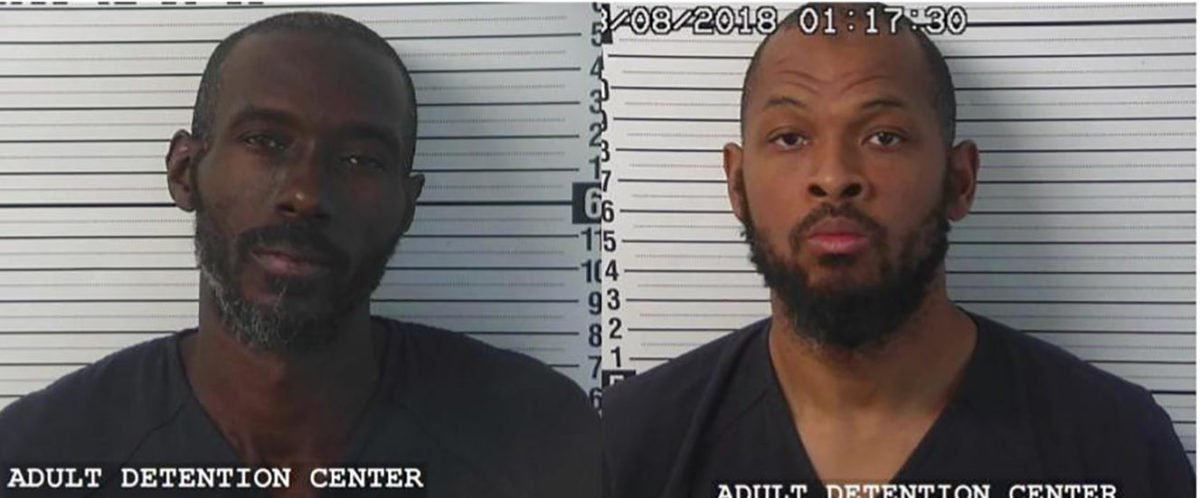 Lucas Morten (L) and Siraj Wahhaj were arrested by New Mexico authorities on August 3, 2018. (Photo courtesy of Taos County Sheriffs Office)