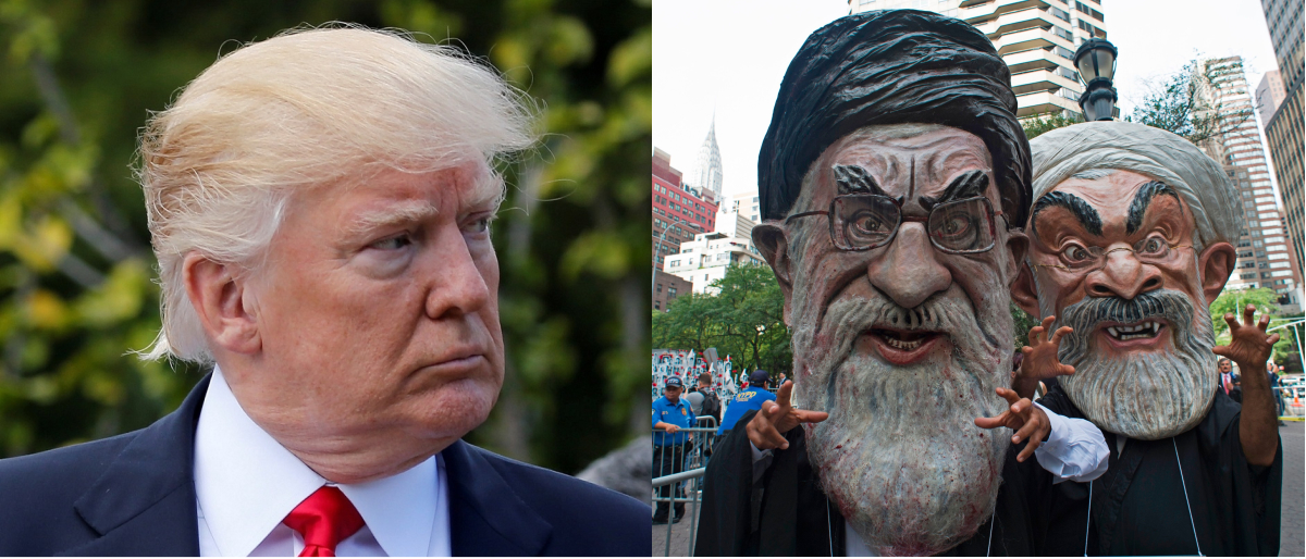 Trump and Iran Reuters/Jonathan Ernst, Getty Images/Don Emmert