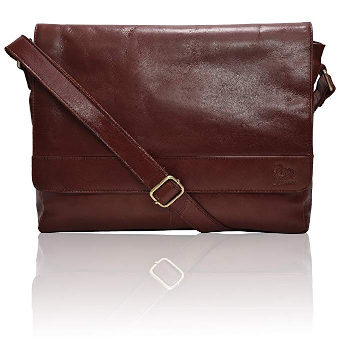 Normally $100, this laptop messenger bag is 30 percent off today with an extra 20% when you apply the coupon the Amazon product page (Photo via Amazon)