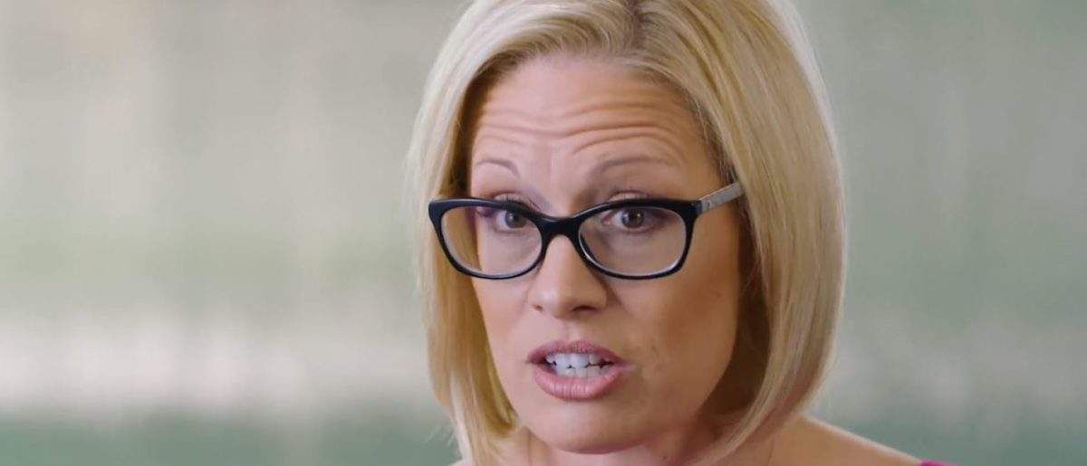 Kyrsten Sinema speaks in a campaign ad posted on YouTube on Aug. 6, 2018. YouTube screenshot