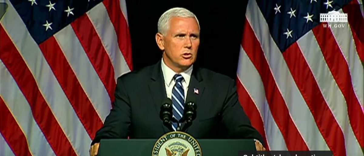 Vice President Pence Outlines The Pentagon's Four Steps For Making The Space Force Happen