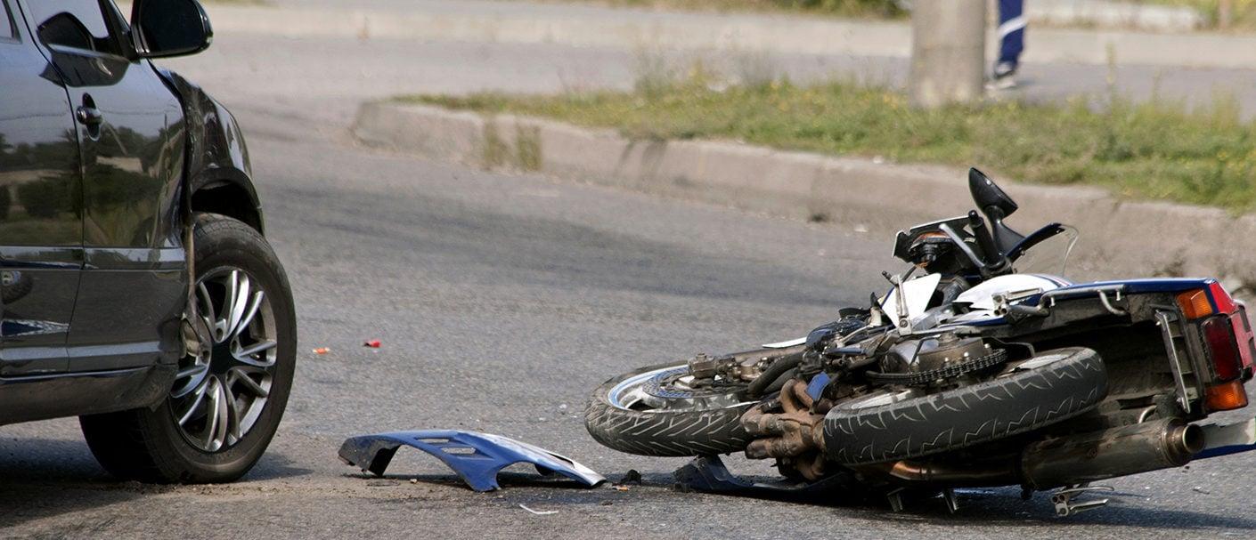 Motorcycle crash. Shutterstock/ Dmitry Surov