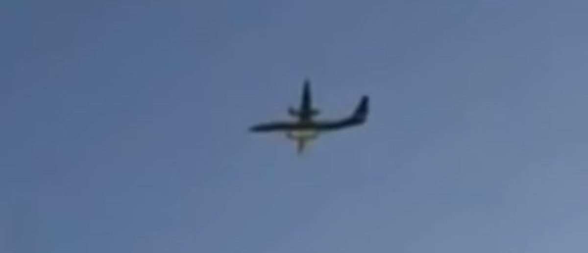 An airline employee stole a Horizon Air plane and crashed it on Aug. 10, 2018. YouTube screenshot/CBS Los Angeles