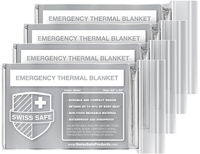 Normally $25, this 4-pack of thermal blankets is 75 percent off (Photo via Amazon)