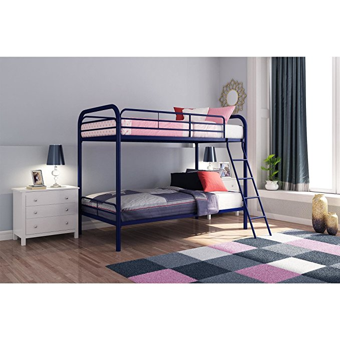 Normally $220, this bunk bed is 42 percent off today (Photo via Amazon)