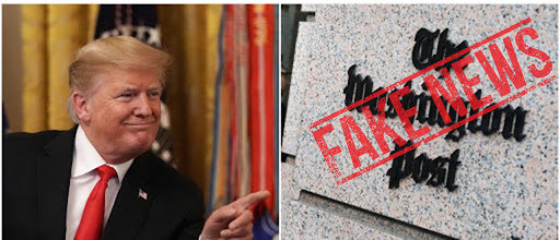 Left: Donald Trump, Right: Washington Post (Getty Images)