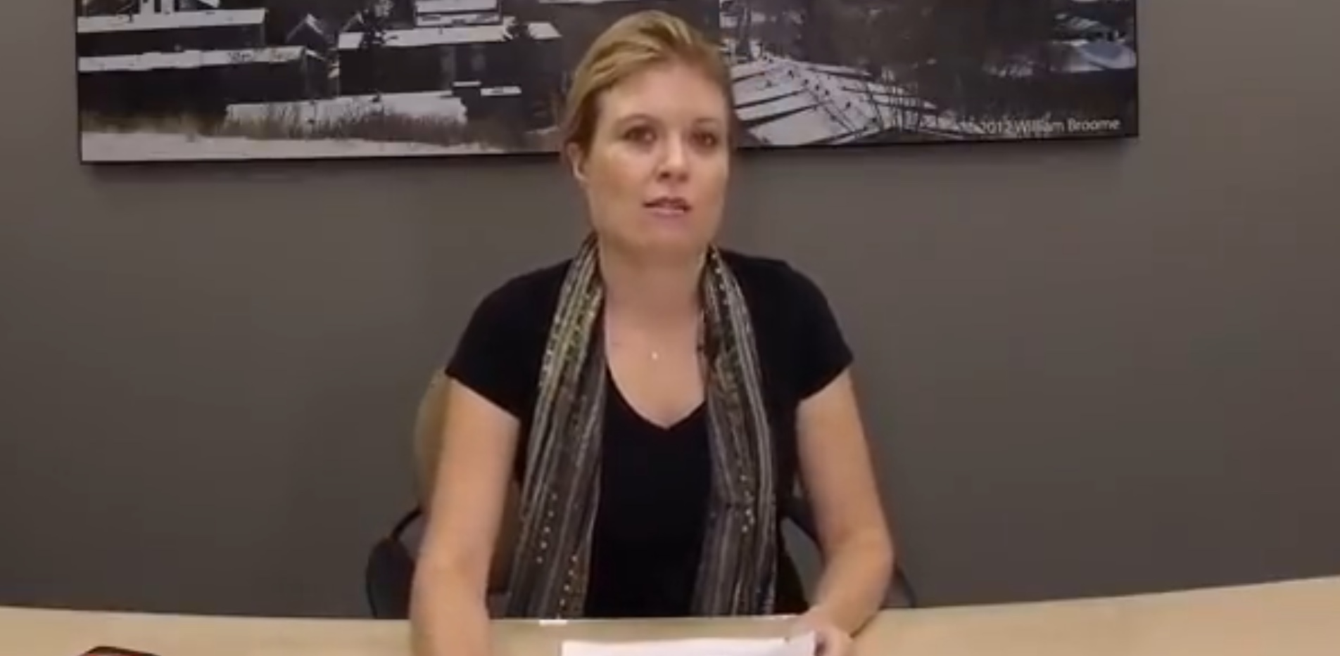 Conservative Immigration Criitic Michelle Rempel discusses Canada's border crisis in a YouTube recording. YouTube screenshot, Sept. 24, 2018.