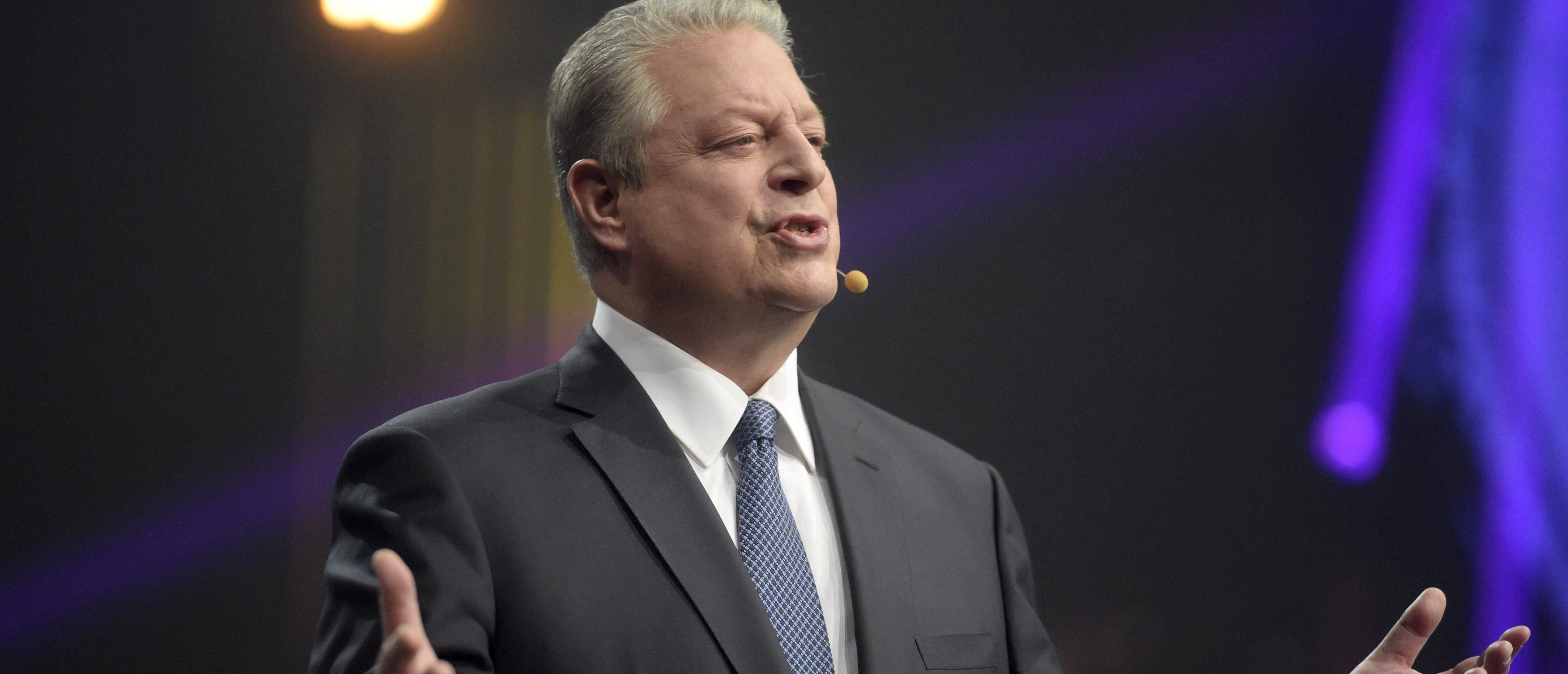 Former Vice President of the United States, Co-founder and Chairman of Generation Investment Management, Senior partner at KPCB Al Gore speaks during Slush 2017 startup and technology event in Helsinki, Finland, on November 30, 2017. Lehtikuva/Vesa Moilanen/via Reuters