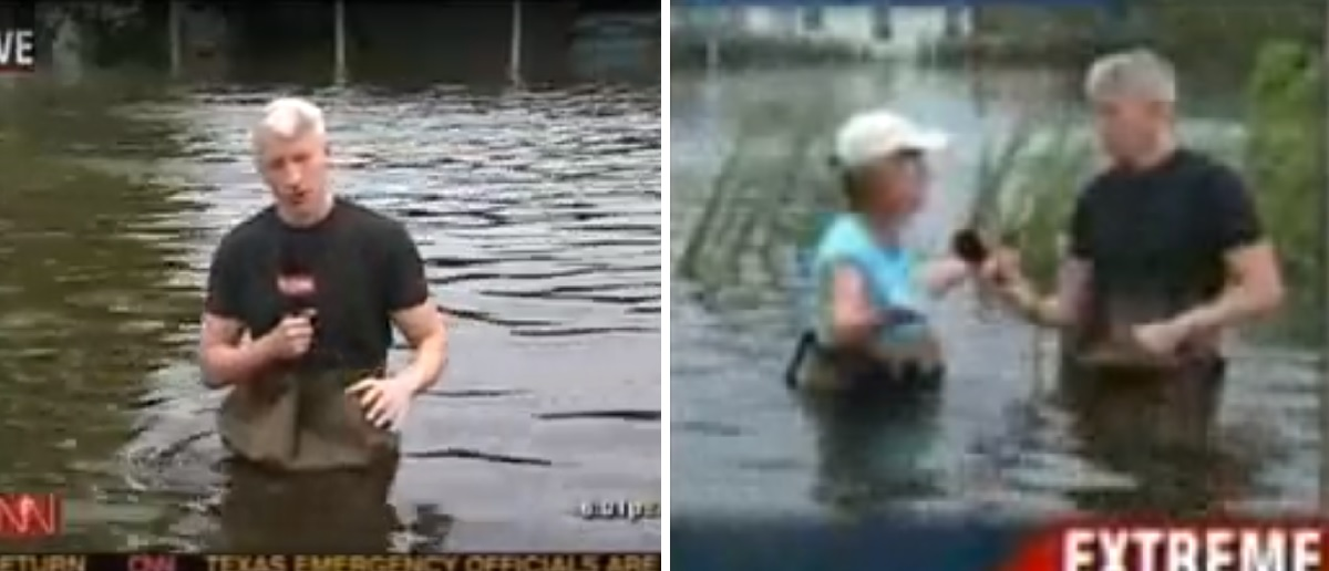 FACT CHECK: Do Photos Show Anderson Cooper Exaggerating Flooding From Hurricane ...
