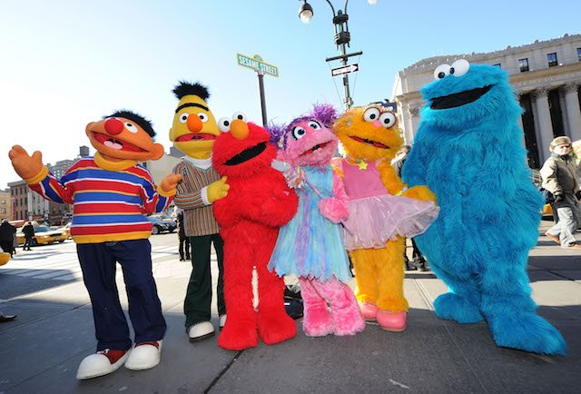 Sesame Street Characters on 31st Street & 8th Avenue on February 4, 2010 in New York City. (Photo: Getty Images)