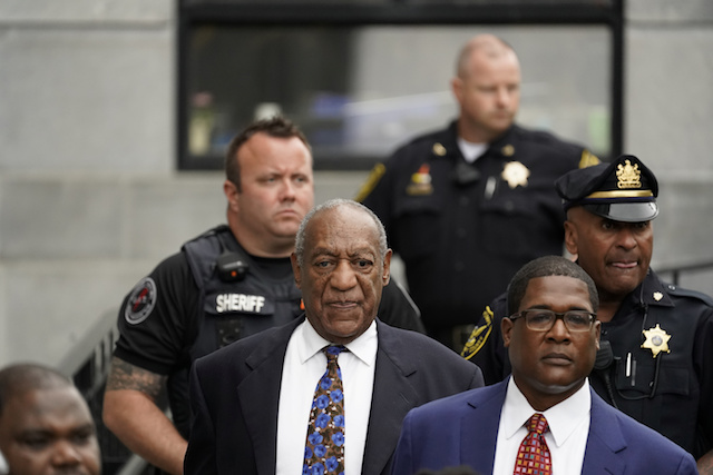 Actor and comedian Bill Cosby leaves the Montgomery County Courthouse after his first day of sentencing hearings in his sexual assault trial in Norristown, Pennsylvania, U.S., September 24, 2018. REUTERS/Jessica Kourkounis