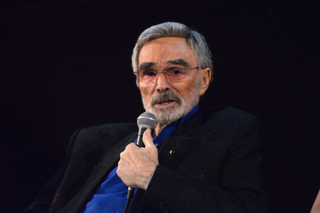 """HOLLYWOOD, CA - MARCH 22: Actor Burt Reynolds speaks during a Q&A session at the Los Angeles premiere of """"The Last Movie Star"""" at the Egyptian Theatre on March 22, 2018 in Hollywood, California. (Photo by Michael Tullberg/Getty Images)"""