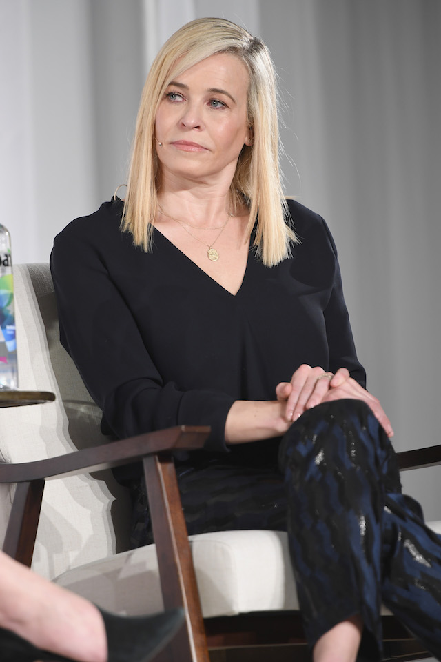 Chelsea Handler speaks on the panel at the in goop Health Summit on January 27, 2018 in New York City. (Photo by Dimitrios Kambouris/Getty Images for Goop)