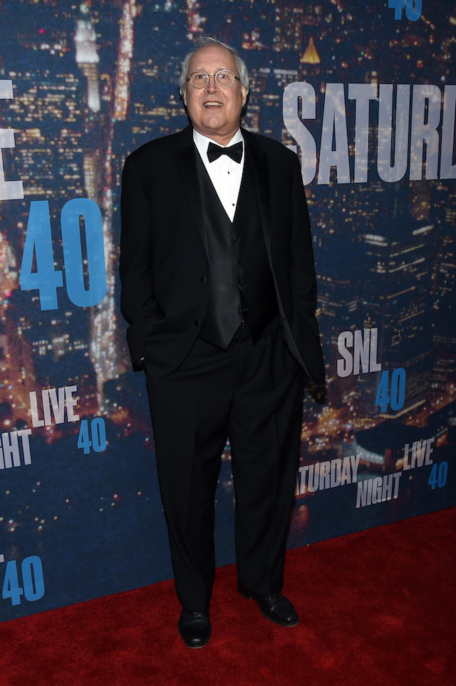 Comedian Chevy Chase attends SNL 40th Anniversary Celebration at Rockefeller Plaza on February 15, 2015 in New York City. (Photo by Larry Busacca/Getty Images)