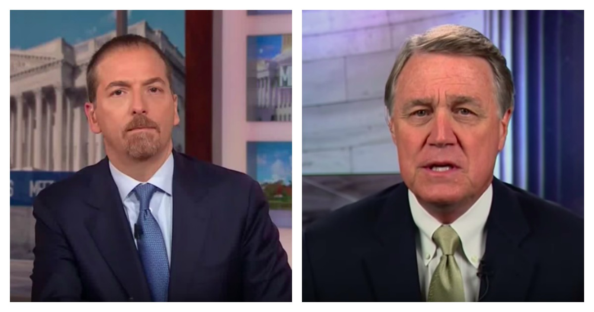 Sen. David Perdue is pictured on Meet The Press with Chuck Todd [YouTube/Screen Shot]