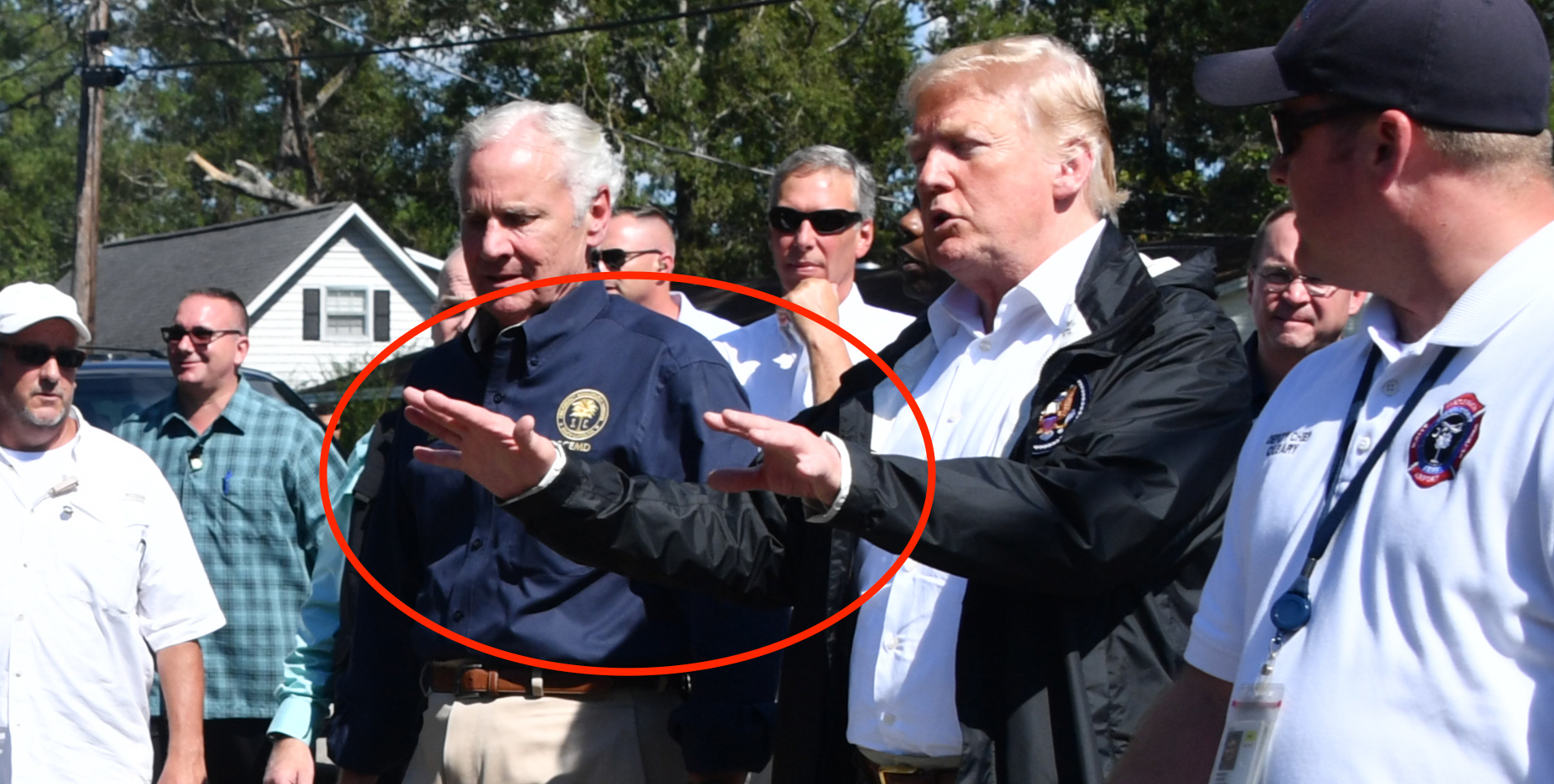 Hurricane Survivor Tells The President He Named His Dog After Him – Trump's Reaction Is Perfect