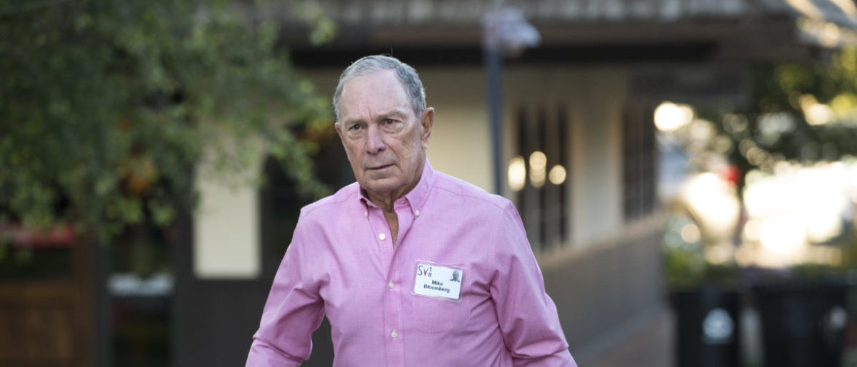 SUN VALLEY, ID - JULY 11: Michael Bloomberg, former New York City mayor and chief executive officer of Bloomberg L.P., arrives for a morning session of the annual Allen & Company Sun Valley Conference, July 11, 2018 in Sun Valley, Idaho. Every July, some of the world's most wealthy and powerful businesspeople from the media, finance, technology and political spheres converge at the Sun Valley Resort for the exclusive weeklong conference. (Photo by Drew Angerer/Getty Images)