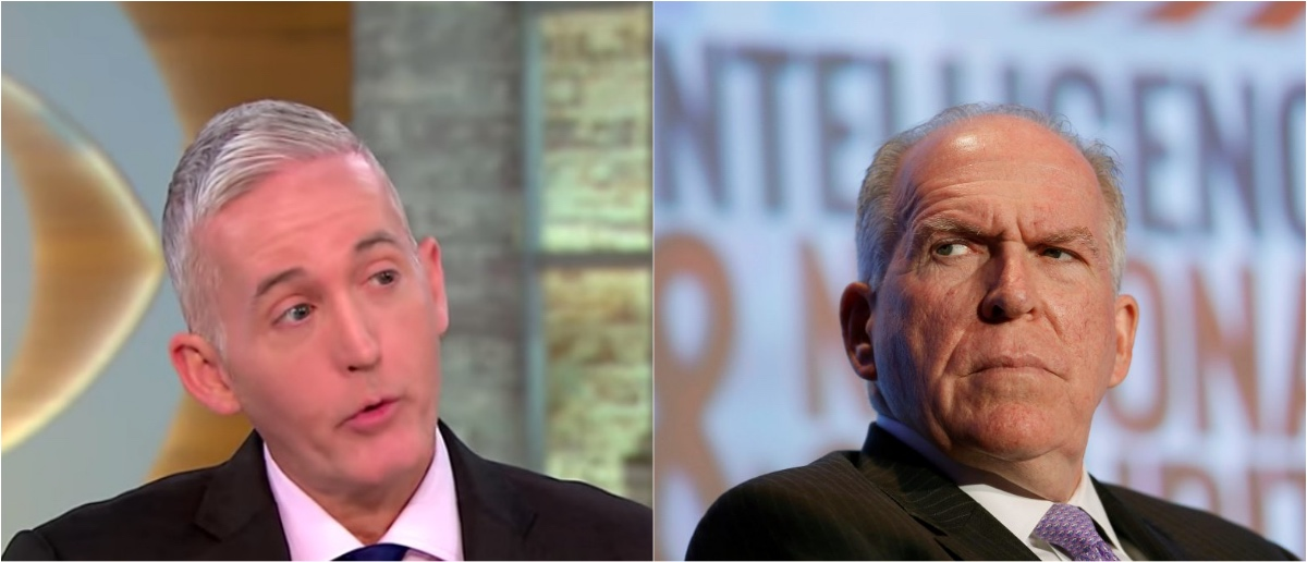 South Carolina Rep. Trey Gowdy (Left, YouTube screen grab/CBS News) and former CIA Director John Brennan (Right, Reuters)