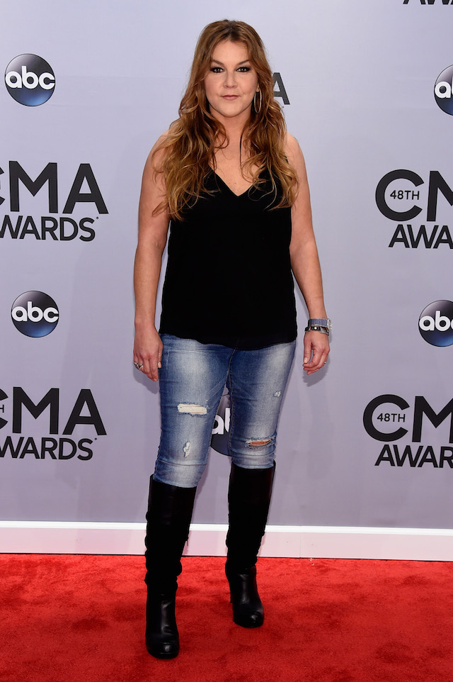 Gretchen Wilson attends the 48th annual CMA Awards at the Bridgestone Arena on November 5, 2014 in Nashville, Tennessee. (Photo by Larry Busacca/Getty Images)