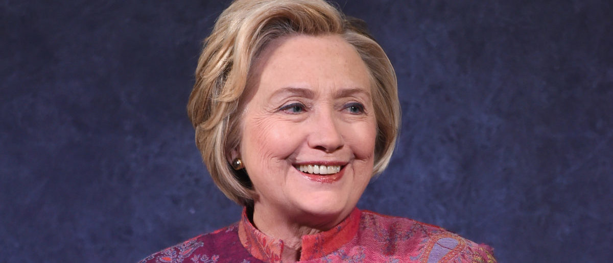 """Former US Secretary of State Hillary Rodham Clinton criticized """"secret money"""" in politics even as she uses it for her political group (Photo by Jamie McCarthy/Getty Images for Child Mind Institute )"""